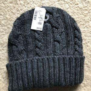 Aeropostale Knit Crochet Charcoal Cap Hat